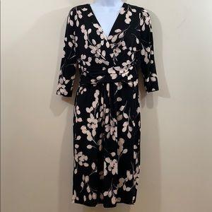 London Style Petites Floral V-Neck Dress  Size 12P